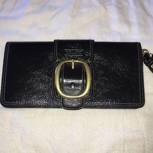 Coach patent leather clutch